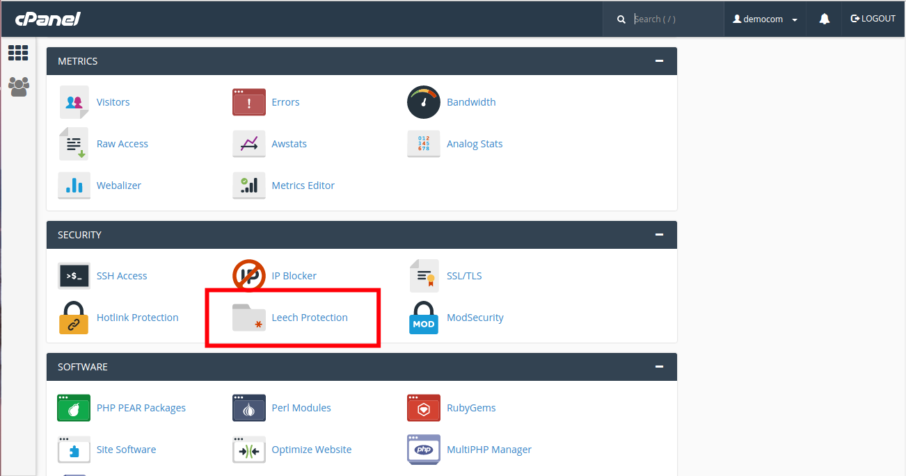 Leech Protection on cPanel